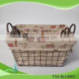 Hot sell 2015 new products metal wire basket with bead decoration