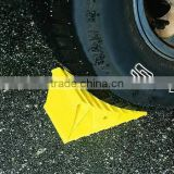 Plastic removable motorcycle wheel tire chock chocks for trailer
