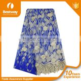 2015 Latest bestway lace fabrics embroidery tulle lace high quality african french lace for fashion party dress