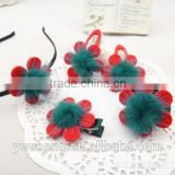 Baby headband girls christmas gift hair flower accessories Hairpin hair circle BB clip hair bands 5 sets