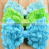 bowknot & heart design Chiffon Lace Flowers accessories for children hair decoration, dress, hats accessories