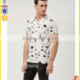 wholesale V-neck camisas de hombre/ cool t shirt OEM/ODM