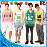 Alibaba china cheap sports bodybuilding screen printed wholesale tanktop gym men