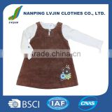 Baby Clothes Girls Cute Dress With Embroidered Flowers clothes manufacturer