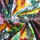 Colorful flower printed modal fabric