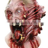 HALLOWEEN ADULT LATEX SIAMESE HORROR FACE TWIST MASK PROP