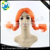 Yiwu factory wholesale orange color braid girl synthetic wigs