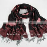 mixed material winter scarf