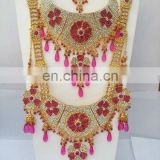 INDIAN PINK WEDDING BRIDAL JEWELRY/JEWELLERY SET