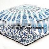 Indian Mandala Floor Pillow Cover / Pouf Cover Seating Round Ottoman