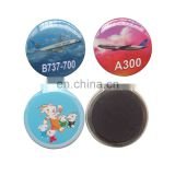 round shaped airplane cartoon custom promotion tin sticker magnet