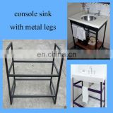 modern bathroom black vanity base for Carrara white countertop