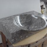 Grey Shell Marble Sinks,Marble Wash Basins,Nature Stone Sinks