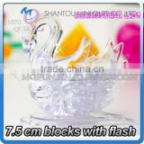 Mini Qute 3D Crystal Puzzle Animal Flash Swan Model building Adult kids model educational toy gift NO.MQ 017