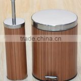 Bamboo Toilet Brush Set