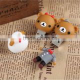 custom creative usb flash drive PVC soft plastic usb stick Cute cartoon U disk