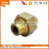 "LB-GutenTop Red Brass Pipe Fitting, Union Coupling Pipe Fitting 3/8"" NPT Water Boat Air Gas brass union pipe"