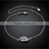 SPA013 925 Silver Plated Jewelry Brass Design Anklet