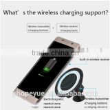 universal rotating magnetic qi wireless charger cradle car mount holder for samsung s6/s7