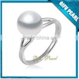 2014 Wholesale 925 Sterling Silver Jewelry Freshwater Pearl Unique Arabic Engagement Ring on Hotsale