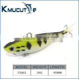 Top quliaty TPR strong VMC hook masky Vibe Soft Fishing Vibe Lure 95mm 20g OEM accept 9 colors available                                                                         Quality Choice