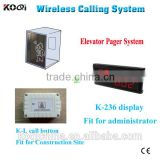 lift wireless call bell system for construction site wireless call button system for elevator emergency help KOQI CE passed