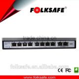 Marvell chipset 10/100m ethernet 8-port fast PoE switch complying with IEEE 802.3af/at standard w/vlan function