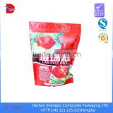 stand up plastic fish feed bag design with zipper, pack feed additives