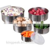 2015 Best Selling 5 -piece stainless steel bowl set with plastic lids/ Stainless steel mixing Bowl/Serving Bowl