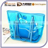 New Design Woman Best Selling Clear PVC Colorful Handbag Shoulder Tote Fashion Beach Bag