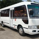 7.5m 26 seats Toyota Coaster type mini bus with famous brand engine HM6700