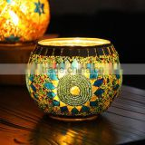 Handmade glass mosaic candle holder for home decoration                                                                                                         Supplier's Choice