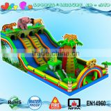tiger lion animals China inflatable trampoline jumping big inflatable toys