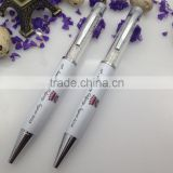 white high quality bling diamond crystal ball pen for advertising