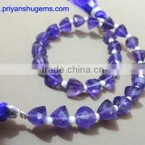 AAA Amethyst Faceted Trillion Shape Briolette Beads straight drilled Best quality product