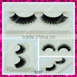 Hot selling double layers false eyelash synthetic handmade strip eyelashes