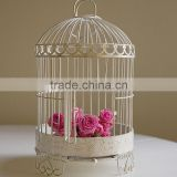 Antique white decoration wedding bird cage accessories