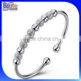 Best seller ! wholesale 2015 women's silver beads open bracelet