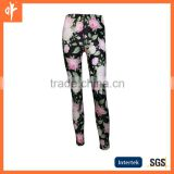 Ladies sublimation Baselayer Bottoms,ladies flower lycra pants with oem servies.ladies bell bottom pants,lycra hot pants