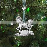 2015 new producs Rocking Horse Ornament decorations christams craft gifts