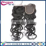 Wholesale human hair natural wave lace closure human hair piece 4*4 piece for balck women