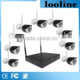 Looline Support SDMA/VGA 9pcs Bullet Camera Video Surveillance Monitor Wifi Security Camera