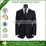 2014 formal long sleeve tailored collar wool&polyester single breasted business men tuxedo and suit