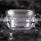 2015 diamond acrylic cream jar,clear acrylic cream jar for face,transparent cosmetic cream jar