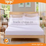 high quality manufacture white plain matress protector fitted knitted bed sheets