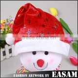 Factory direct sale snowflake plush christmas santa claus hat                                                                         Quality Choice