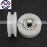 Plastic Coated 6x28.5x7.6mm U Groove Guide Pulley Bearing Sealed Rail Ball Bearing                                                                         Quality Choice
