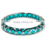 Stately Steel Resin Cutout Slip-On Bangle Bracelet Manufacturer & Factory & Supplier