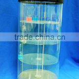 customized acrylic display cylinder tank,ISO factory product