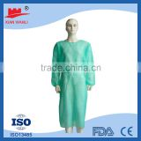 hospital disposable patient sterile pp non woven fabric green disposable dressing gowns